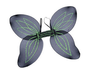 Black Adult Fairy Pixie Wings Goth Halloween Fancy Dress