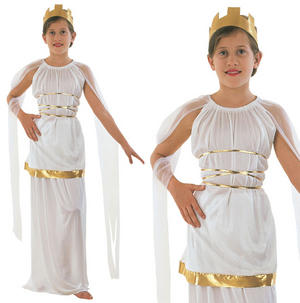Childrens Grecian Fancy Dress Costume Greek Goddess Outfit Book Week 3-13 Yrs