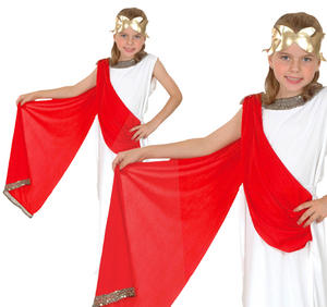 Childrens Greek Goddess Fancy Dress Costume Toga Grecian Outfit 3-13 Yrs
