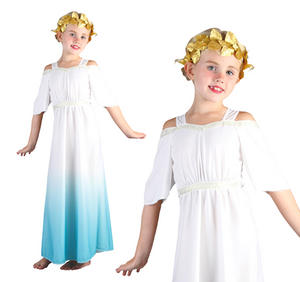 Childrens Roman Goddess Fancy Dress Costume Childs Kids Outfit 3-13 Yrs