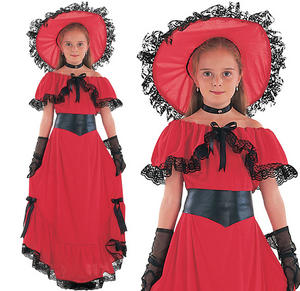 Childrens Scarlet O'Hara Fancy Dress Costume Childs Book Week Outfit 3-13 Yrs