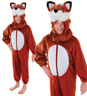 Childrens Fantastic Mr Fox Fancy Dress Costume Outfit Kids Book Week 7-10 Yrs