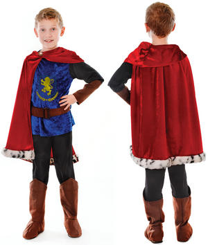 Childrens Prince Valiant Fancy Dress Costume Medieval Knight Boys Kids 6-10 Yrs