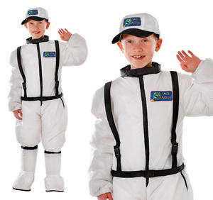 Childrens Spaceman Fancy Dress Costume Astronaut Outfit Kids Childs 6-10 Yrs