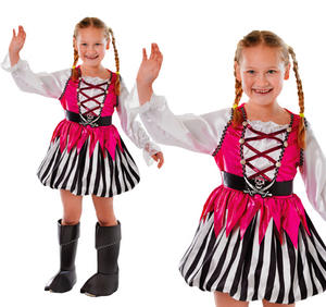 Childrens Pink Pirate Girl Fancy Dress Costume Outfit Kids Childs 3-8 Yrs