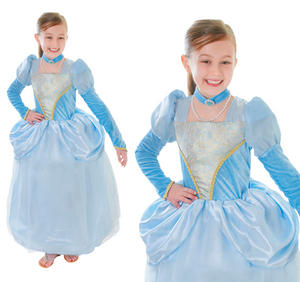 Childrens Blue Princess Fancy Dress Costume Book Week Childs Outfit 3-10 Yrs