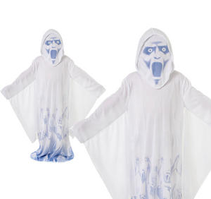 Childrens Scary Ghost Fancy Dress Costume Boys Halloween Outfit Childs 6-10 Yrs