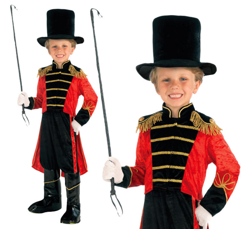 1  sc 1 st  Fancy Dress 365 & Childrens Circus Ringmaster Fancy Dress Costume Lion Tamer Outfit 3 ...