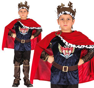 Childrens King Arthur Fancy Dress Costume Boys Medieval Outfit 3-10 Yrs