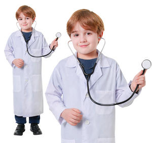 Childrens Doctors Lab Coat Fancy Dress Costume Outfit Boys Girls Childs 6-10 Yrs