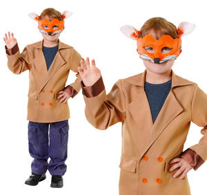 Childrens Fantastic Mr Fox Fancy Dress Costume Book Week Day Outfit 6-10 Yrs