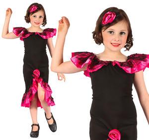 Childrens Rumba Girl Fancy Dress Costume Salsa Flamenco Outfit 3-10 Yrs