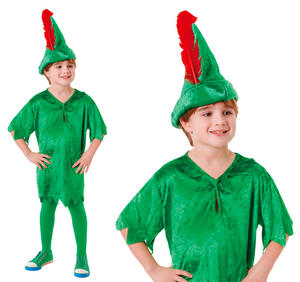 Childrens Peter Pan Fancy Dress Costume Book Week Day Outfit 6-10 Yrs