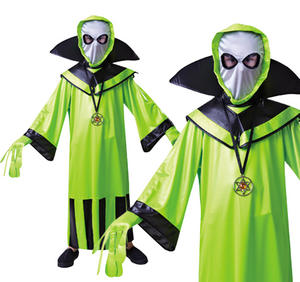 Childrens Green Alien Fancy Dress Halloween Martian Kids Costume Outfit 3-10 Yrs