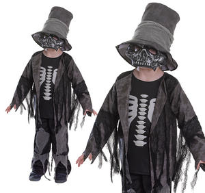 Childrens Grave Digger Fancy Dress Costume Halloween Skeleton Outfit 3-10 Yrs