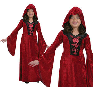 Childrens Gothic Vampiress Fancy Dress Costume Girls Halloween Outfit 3-10 Yrs