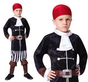 Childrens Pirate Captain Fancy Dress Costume Hook Halloween Outfit Kids 3-10 Yrs