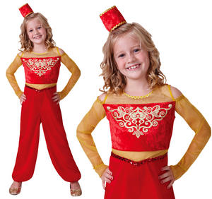 Childrens Arabian Princess Fancy Dress Costume Aladdin Kids Outfit 3-10 Yrs