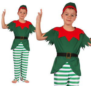 Childrens Green Elf Fancy Dress Costume Christmas Outfit Boys Kids 3-10 Yrs