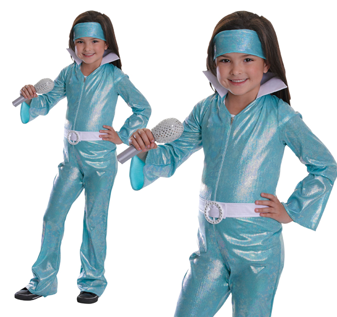 Sentinel Childrens Swedish Pop Group Fancy Dress Costume Jumpsuit Pop Star Outfit Childs  sc 1 st  eBay & Childrens Swedish Pop Group Fancy Dress Costume Jumpsuit Pop Star ...