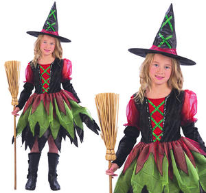 Childrens Fairy Witch Fancy Dress Costume Halloween Tutu Outfit 3-10 Yrs