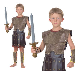 Childrens Roman Fancy Dress Costume Gladiator Greek Soldier Outfit 3-13 Yrs