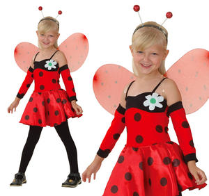 Childrens Ladybird Fancy Dress Costume Ladybug Insect Kids Outfit 3-10 Yrs