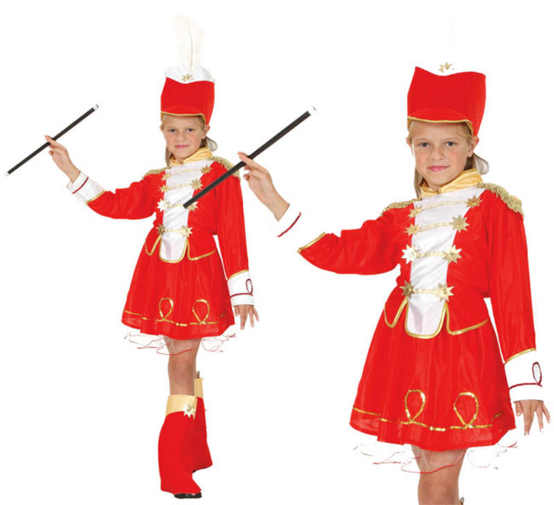 Childrens Majorette Fancy Dress Costume Toy Soldier Girls Outfit 3 8