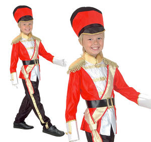 Childrens Classic Toy Soldier Fancy Dress Costume Book Week Outfit 3-10 Yrs