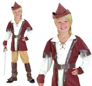 Childrens Robin Hood Boy Fancy Dress Costume Book Week Outfit Kids 3-13 Yrs