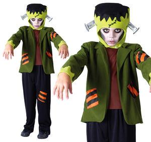 Childrens Frankenstein Fancy Dress Costume Halloween Outfit Childs Kids 3-10 Yrs