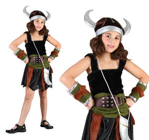 Childrens Viking Girl Fancy Dress Costume Book Week Childs Outfit 6-10 Yrs