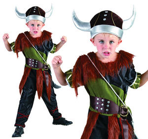 Childrens Viking Boy Fancy Dress Costume Book Week Childs Outfit 6-13 Yrs