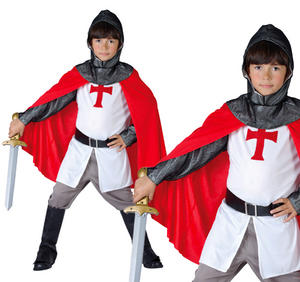 Childrens Crusader Knight Boys Fancy Dress Book Week Day Costume 3-10 Yrs