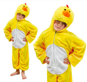 Childrens Plush Chicken Fancy Dress Costume Easter Outfit Childs Kids 3-8 Yrs
