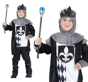 Childrens Chess Knight King Fancy Dress Costume Medieval Kids Outfit 3-10 Yrs