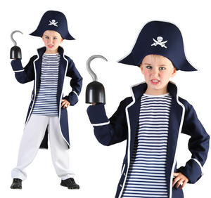 Childrens Pirate Fancy Dress Costume Captain Hook Outfit Book Week 3-10 Yrs