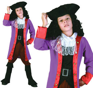 Childrens Captain James Hook Fancy Dress Costume Book Week Outfit 3-10 Yrs