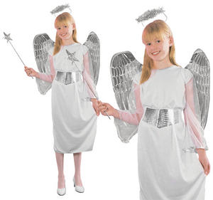 Childrens Kids Angel Fancy Dress Costume Christmas Nativity Outfit 3-10 Yrs