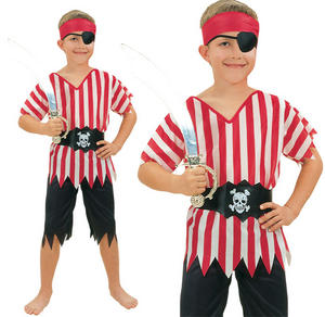 Childrens Kids Pirate Fancy Dress Costume Childs Outfit Boys Girls 3-10 Yrs
