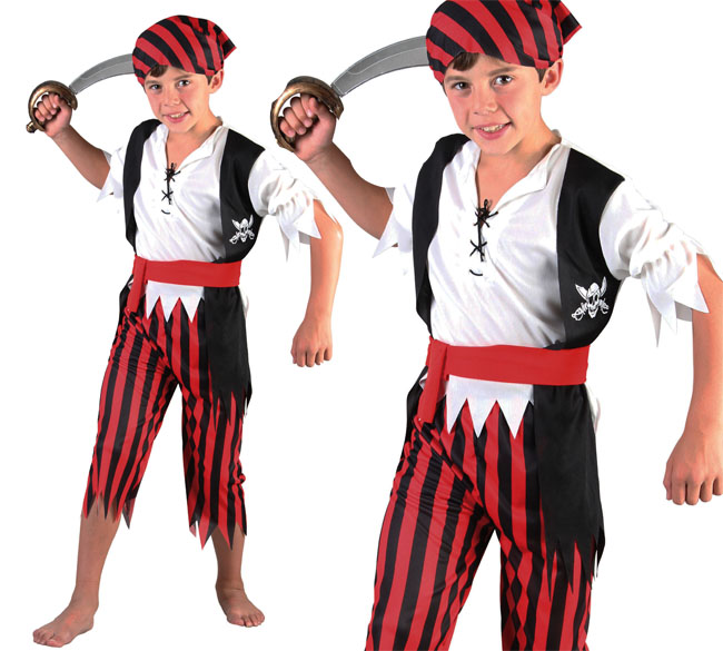 Childrens Kids Boy Pirates Of The Caribbean Fancy Dress Costume Outfit 3-10 Yrs