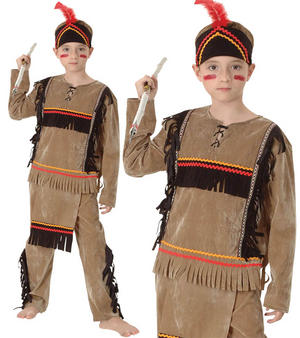 Childrens Kids Native American Fancy Dress Costume Native Childs Outfit 3-10 Yrs