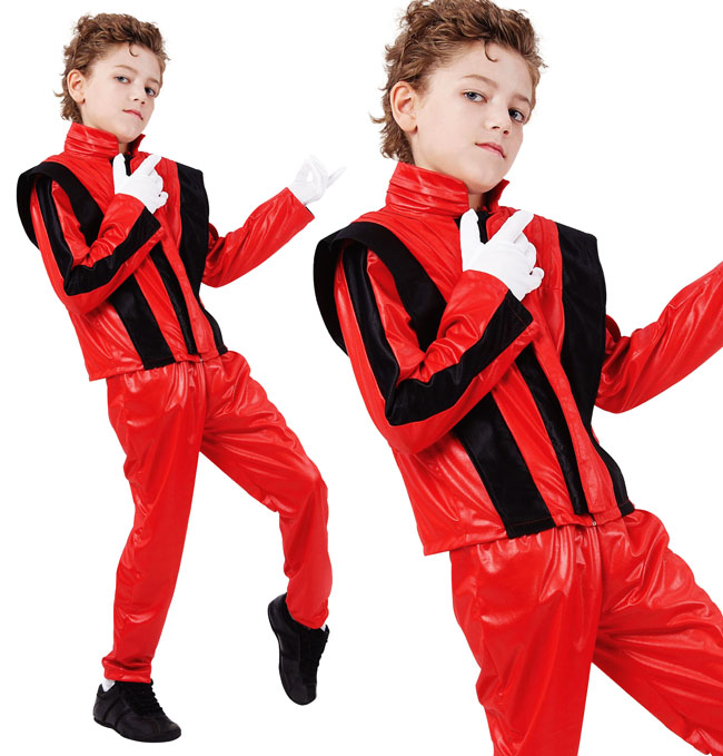 Childrens Kids Fancy Dress Costume Michael Jackson Halloween Outfit 3-10 Yrs