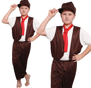 Childrens Kids Victorian Boy Fancy Dress Costume Oliver Twist Outfit 6-10 Yrs