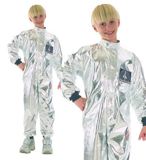 Childrens Kids Astronaut Fancy Dress Costume Space Spaceman Outfit 3-10 Yrs