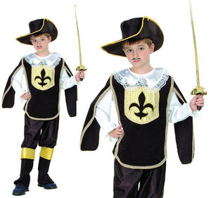 Childrens Kids 3 Three Musketeers Fancy Dress Costume Boys Outfit 3-10 Yrs