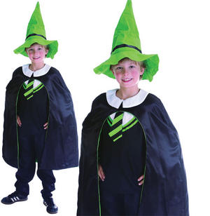 Childrens Kids Wizard Boy Fancy Dress Costume Halloween Outfit 6-10 Yrs