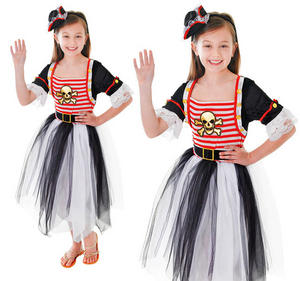 Childrens Kids Pirate Princess Fancy Dress Costume Outfit Halloween 3-10 Yrs