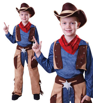 Childrens Kids Cowboy Fancy Dress Costume Boys Outfit Wody Childs 3-10 Yrs