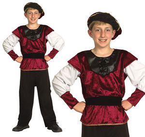 Childrens Kids Renaissance Prince Fancy Dress Costume Tudor Boys 6-13 Yrs